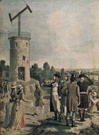 Télégraphe optique. Crédits : Musée de la Poste - Paris