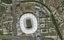 Stade de France et soucoupe volante