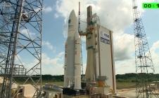Décollage du Soyouz lors du lancement de Proxima